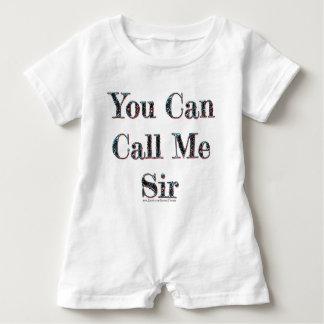 Sie können mich anrufen Sir-Säuglingsspielanzug Baby Strampler