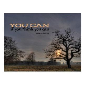 Sie können motivierend Postkarte