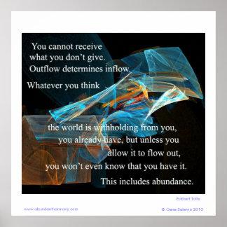 Sie können nicht empfangen, was Sie nicht geben Poster