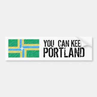 Sie können Portland behalten Autoaufkleber