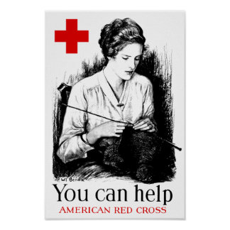Sie können - rotem Kreuz helfen Poster