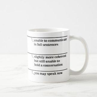 Sie können Tasse mit Fülle-Linien jetzt sprechen