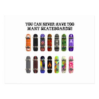 Sie können zu viele Skateboards nie haben! Postkarte