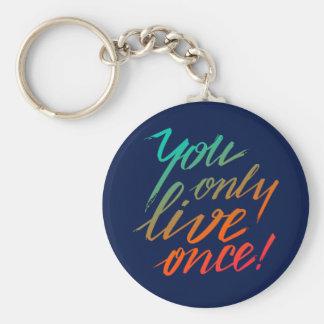 Sie leben nur einmal! Blau Schlüsselanhänger
