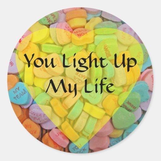 Sie leuchten meinem Leben Stickers