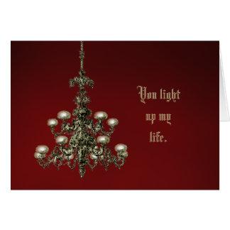 Sie leuchten meinem Leben Grußkarte
