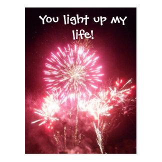 Sie leuchten meinem Leben! Postkarte