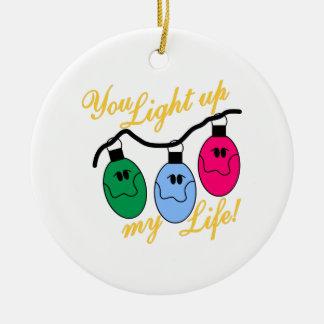 Sie leuchten meinem Leben Rundes Keramik Ornament