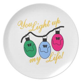Sie leuchten meinem Leben Teller