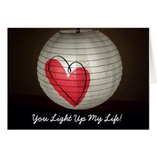 Sie leuchten meiner Leben-Valentinstag-Karte Grußkarte