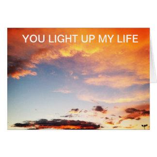 Sie leuchten meiner Leben-Wolken-Valentinstag-Kart Grußkarten