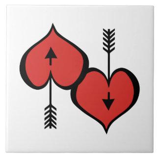 Sie lieben Herz-rote Keramik-Fliese Fliese
