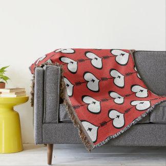 Sie lieben Herz-weiße Wurfs-Decke Decke