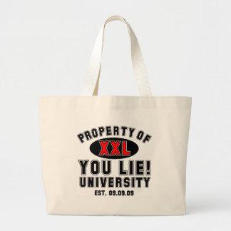 Sie liegen! Universität Jumbo Stoffbeutel