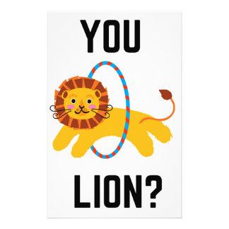 Sie Löwe? Spaß-Illustrations-Entwurfs-Sammlung Briefpapier
