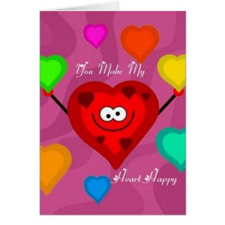 Sie machen mein Herz glückliche Karte
