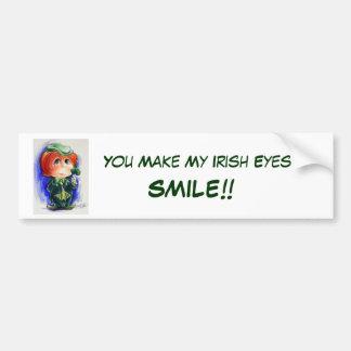 Sie machen mein irisches Augen-Lächeln!! Autoaufkleber