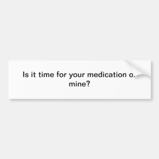 Sie Medikation Autoaufkleber