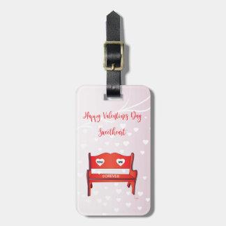 Sie-Mir-auf-ein-Bank-Valentinsgrüße Tag Kofferanhänger