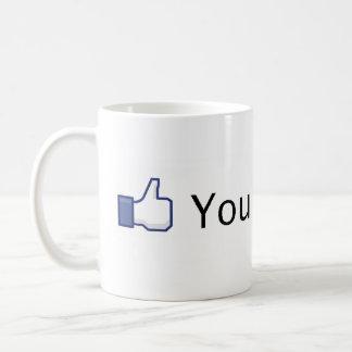 Sie mögen dieses. Facebook mögen Tasse