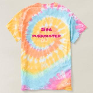 Sie Purrsisted Regenbogen-Katzen-Shirt T-shirt