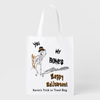 Sie rattern meine Knochen-Halloweentrick-oder Wiederverwendbare Einkaufstasche