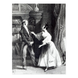 Sie sagte ihm, was dann Darcy freiwillig hatte Postkarte
