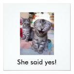 Sie sagte ja! individuelle ankündigskarten