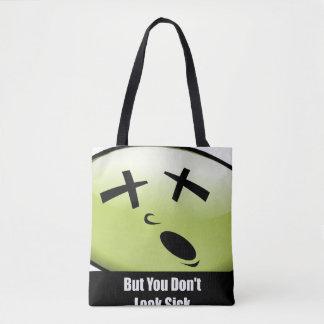 Sie schauen nicht kranke Taschen-Schwarz-Griffe Tasche
