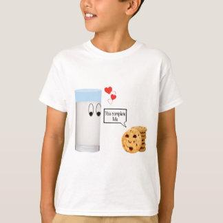 Sie schließen mich Milch und Plätzchen ab T-Shirt