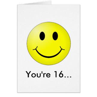 Sie sind 16! karte