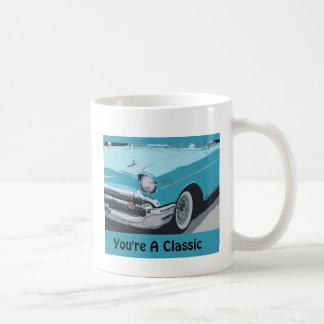 Sie sind, Blau Chevy des Klassiker-1955 ein Kaffeetasse