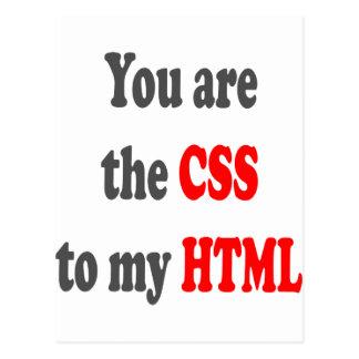 Sie sind der CSS zu meinem HTML Postkarte