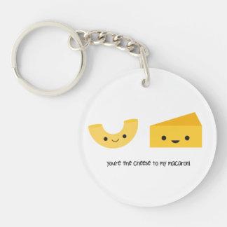 Sie sind der Käse zu meinem Makkaroni-Acryl Einseitiger Runder Acryl Schlüsselanhänger
