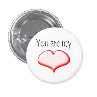 Sie sind der Knopf meines Herz Valentinsgrußes Buttons