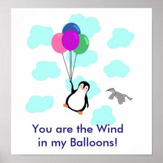 """""""Sie sind der Wind in meinen Ballonen"""" PLAKAT"""