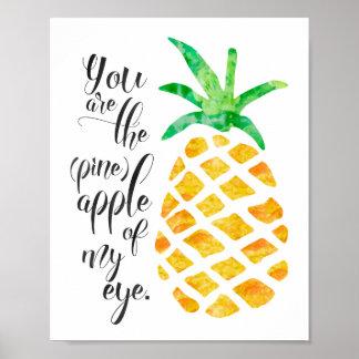 Sie sind die Ananas meines Augen-Plakats Poster