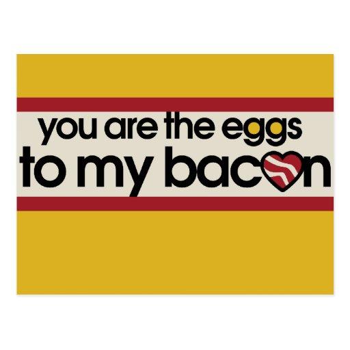 Sie sind die Eier zu meinem Speck Postkarte