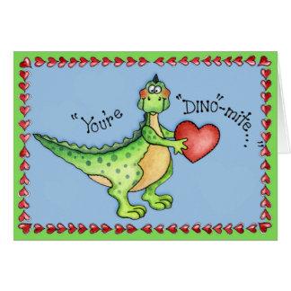 Sie sind Dino-Milbe - Gruß-Karte Karte