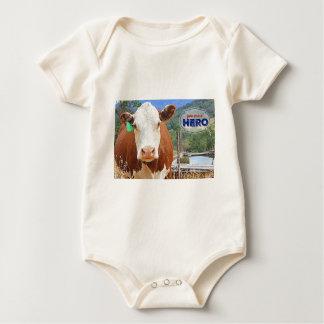 Sie sind ein Held! Kuh Baby Strampler