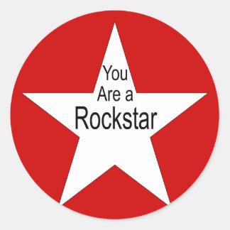 Sie sind ein Rockstar Stickers