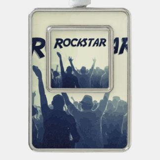 Sie sind ein Rockstar! Rahmen-Ornament Silber