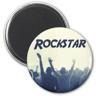 Sie sind ein Rockstar! Runder Magnet 5,7 Cm