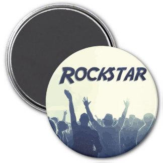 Sie sind ein Rockstar! Runder Magnet 7,6 Cm