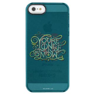 Sie sind eins von uns jetzt grüne Grafik Durchsichtige iPhone SE/5/5s Hülle