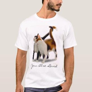 Sie sind geliebtes Katzen-Freund-Shirt T-Shirt