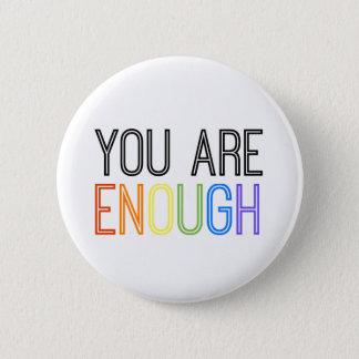 """""""Sie sind genügend"""" queer genug Knopf Runder Button 5,1 Cm"""