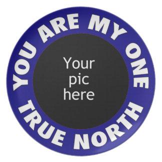 Sie sind mein ein rechtweisend Nord Flache Teller