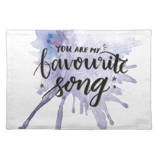 Sie sind mein Lieblingslied Stofftischset