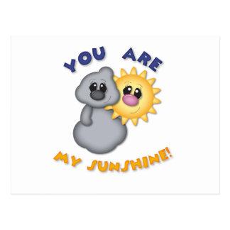 Sie sind mein Sonnenschein-Entwurf Postkarte